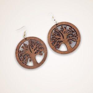 Last Pair!! Wood Natural Earrings Boho African NWT